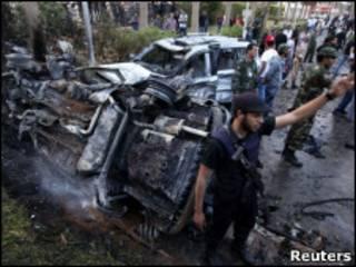 Explosão em Benghazi nesta quarta (Reuters)