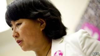 前六四學生領袖柴玲在美國華盛頓出席呼籲關注中國計劃生育問題活動(1/6/2011)