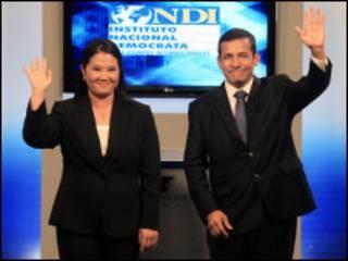 Keiko Fujimori e Ollanta Humala.