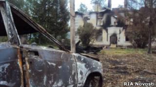 Последствия пожара на складе с боеприпасами в Башкирии