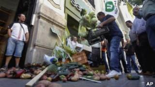Фермеры в Валенсии протестуют