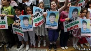 Дети на демонстрации