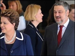 Palocci e Dilma em foto de arquivo (Ag. Brasil)