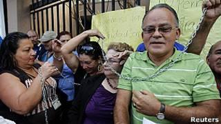 Protesta por un arresto domiciliario de un presunto narcotraficante