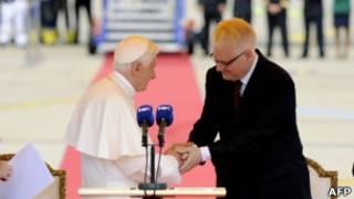 Папа Бенедикт XVI  и Иво Йосипович