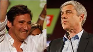 Основні кандидати на посаду прем'єра: Педро Пасош Коельо та Жозе Сократеш