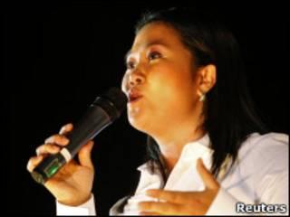 Keiko Fujimori, candidata à presidência do Peru.