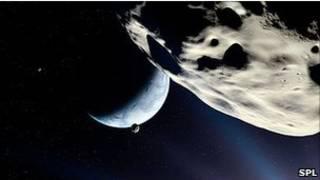 Земля и Луна (рисунок)