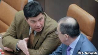 Сенатор Михаил Маргелов и глава МИД России Сергей Лавров