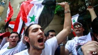 جانب من المظاهرات في سورية