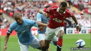 Pemain Manchester United dan Manchester City