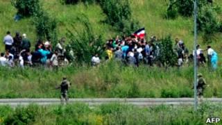 نازحون سوريون إلى تركيا