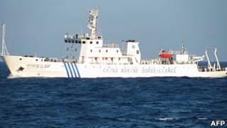 Китайское патрульное судно в Южно-Китайском море