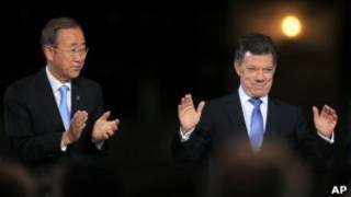 Президент Колумбии и глава ООН