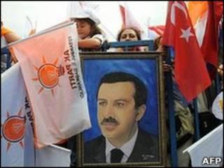 Imagem do primeiro-ministro Recep Tayyip Erdogan
