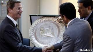 Министр иностранных дел Германии Гидо Вестервелле в Бенгази