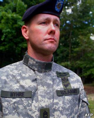 Сержант Сухопутных войск США в черном берете