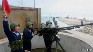 Учения вьетнамских ВМС в Южно-Китайском море