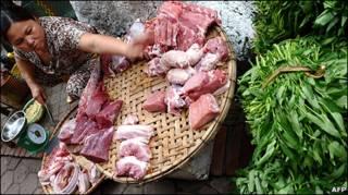 Một người bán hàng ở Hà Nội