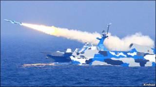 Hải quân Trung Quốc tập trận