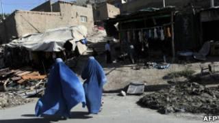 Афганские женщины в старом городе в Кабуле