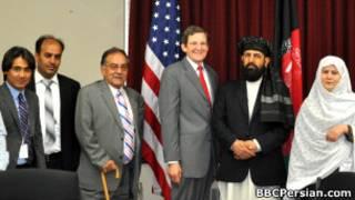 موسی اکبرزاده و مارک گروسمن، فرستاده ویژه باراک اوباما برای افغانستان و پاکستان