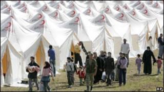 پناهجویان سوری در اردوگاهی در ترکیه