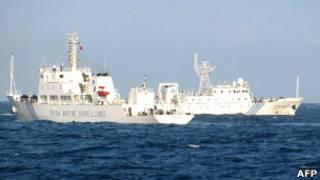 Китайские патрульные корабли в Южно-Китайском море