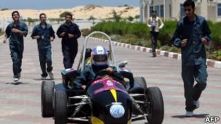 سيارة فورمولا 1 أنتجها طلبة في غزة