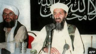 Айман Завахири (на фото слева) и Усама бин Ладен