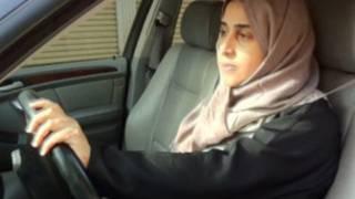 सऊदी अरब में एक ड्राइवर महिला