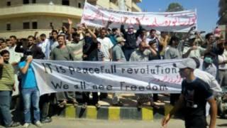 متظاهرون سوريون