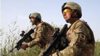 قوات بريطانية في افغانستان