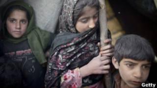 کودکان بیجاشده در شمال کابل