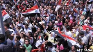 هواداران بشار اسد