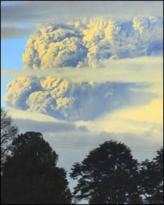 Núi lửa Puyehue ở Chile, hình chụp 7/6/2011