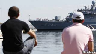 Корабль НАТО в порту Одессы