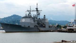 """Американский крейсер """"Монтерей"""" в Батуми"""