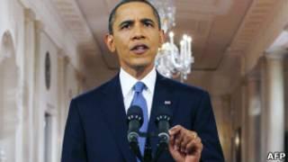 Obama, em discurso para anunciar início de retirada de tropas americanas do Afeganistão (AFP)