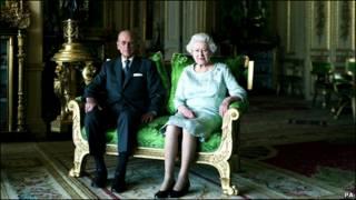 英女王与爱丁堡公爵的合影肖像