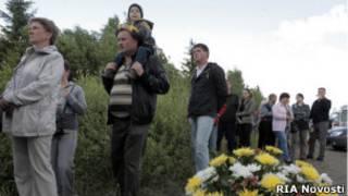 На месте падения самолета Ту-134 под Петрозаводском