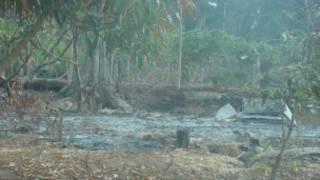 Casa de Nilcilene, queimada após um dos ataques