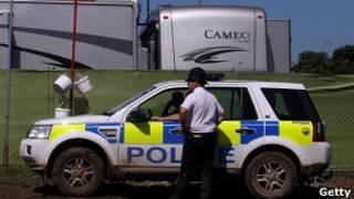 Полиция на фестивале Гластонбери