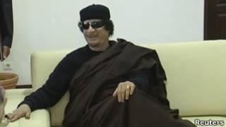 الزعيم الليبي، العقيد معمر القذافي