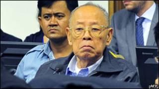 Ieng Sary tại tòa ở Phnom Penh