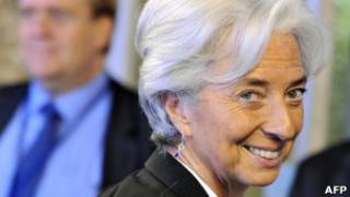 Ex-ministra da economia da França, Christine Lagarde, agora diretora do FMI. AFP