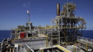 Plataforma da Petrobras em Angra, no RJ (AP)