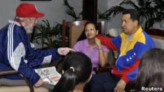 Фидель Кастро и Уго Чавес