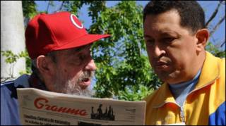 Уго Чавес і Фідель Кастро