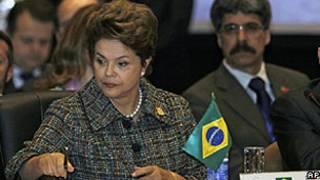 Dilma Rousseff durante cúpula do Mercosul (AP)
